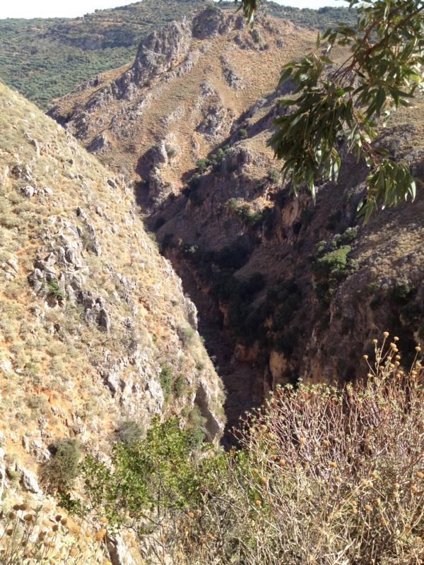 Schlucht am Weg nach Elafonisis, Kreta